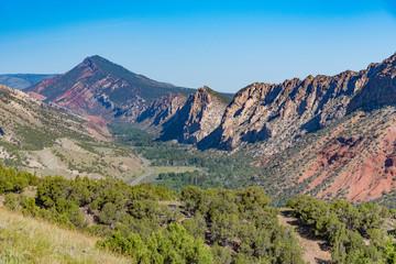 Mountainous terrain in North East Utah