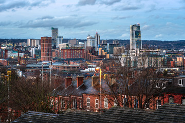 Leeds City Skyline England UK