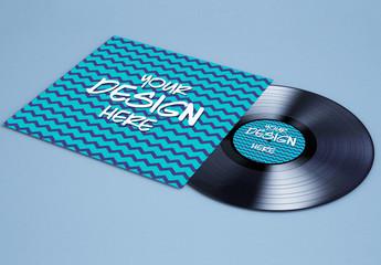 Record and Album Cover Mockup 1