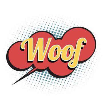 woof comic word