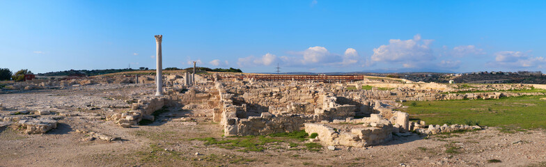 Wall Mural - Panoramic view of Kourion archaeological site. Limassol District, Cyprus