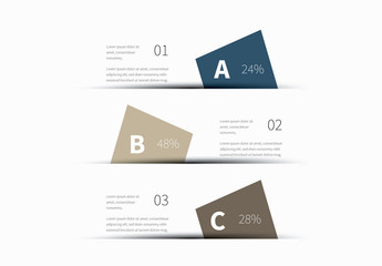 Three Section Geometric Shapes Infographic Layout