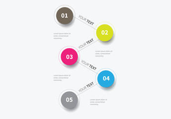 Zig Zag Circles Infographic Layout