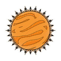 Sun isolated solar system