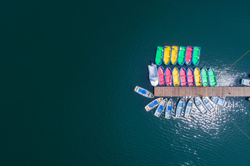Boats seen from the sky