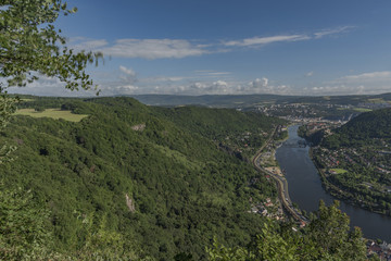View for valley of river Labe