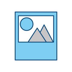 Picture landscape symbol