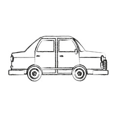 car side view icon automobile vehicle