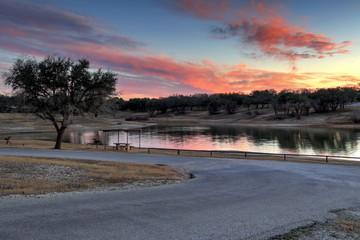 Texas lake Sunset near Waco