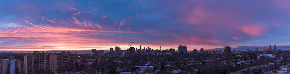 Sunset over Toronto