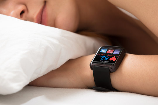Smart Watch Showing Heart Rate