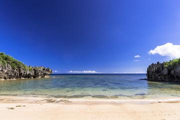 Fototapete - 古宇利島のトケイ浜