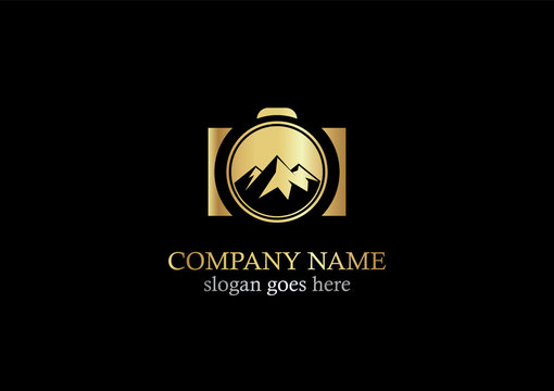 nature photo mountain logo