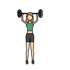 woman with dumbbell to do exercise