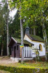 A chapel in the bavarian forest