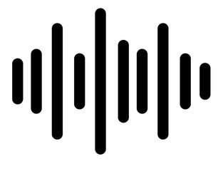 sound icon on white background. sound sign.