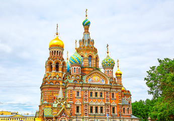 Poster Monument church of the Savior on Spilled Blood