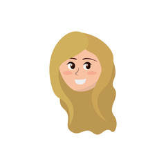 avatar happy woman face with hairstyle design