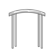 line arc decorative design to special celebrate