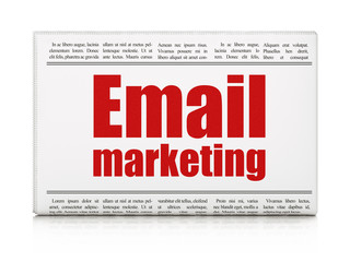 Finance concept: newspaper headline Email Marketing