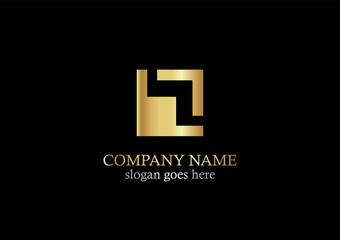 gold square shape logo