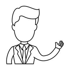 businessman icon over white background vector illustration