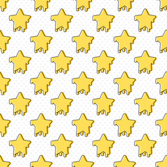 Cute simple star symbol seamless pattern