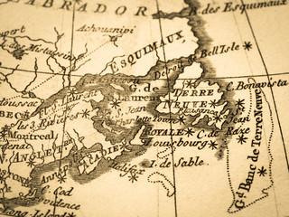 古地図 カナダ・セントローレンス湾