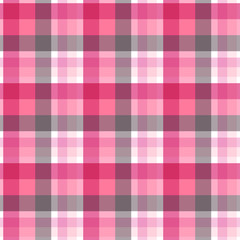 Pink and grey plaid seamless pattern. Vector