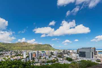 Panoramic view of Port Louis, Mauritius, Africa