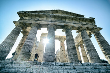 Ancient greek temple in Paestum south Italy