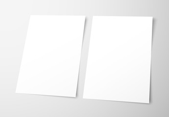 Templates of empty flyers on a gray background.