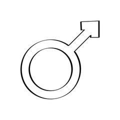 male symbol isolated icon vector illustration design
