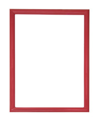 red picture frame isolated on white background