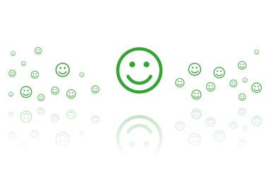 glücklicher Smiley Reflektierend Weiss