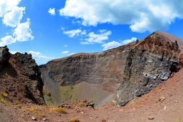 Vesuvius volcano crater next to Naples. Campania region, Italy