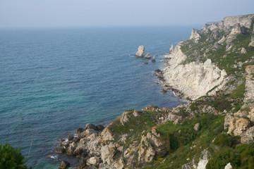 Precipice, mountains, sea, ocean, summer, beauty, rocks