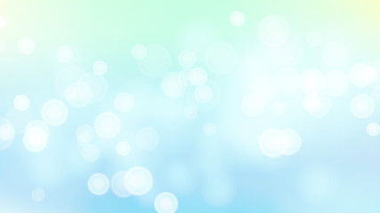 Abstract Summer Sea Nature Background Vector. Blurred Warm Bokeh Background. De Focused Lights.