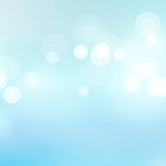 Light Blue Background Vector. Water Summer Bokeh Background With Vintage Filter.