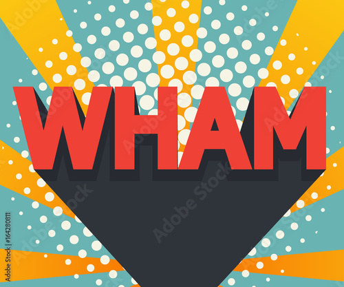 Abstract Wham Pop Art Comic Book Background Stock Image And