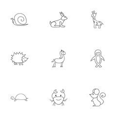 Set Of 9 Editable Zoology Icons. Includes Symbols Such As Tortoise, Polar Bird, Rat And More. Can Be Used For Web, Mobile, UI And Infographic Design.