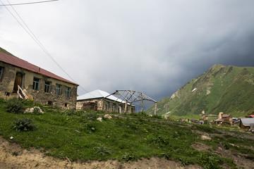 Ushguli  village in Svaneti, Georgia