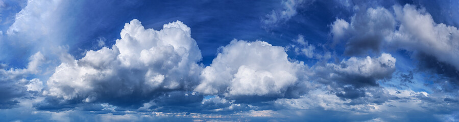 Aluminium Prints Heaven Panorama of the blue sky with clouds