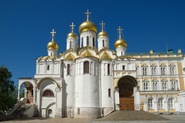 Annunciation Cathedral on Cathedral square of the Moscow Kremlin, Moscow, Russia