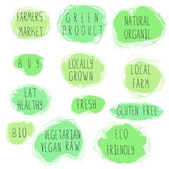 eco food emblem set