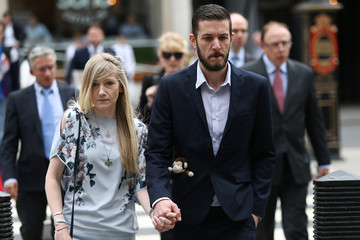 The parents of critically ill baby Charlie Gard, Connie Yates and Chris Gard, arrive at the High Court in London
