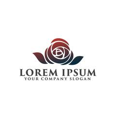 flower logo. Dating Wedding logo design concept template