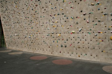 Climbing wall for practicing