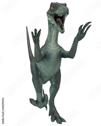 raptor attack mode 3d illustration