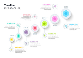 Colorful Diagonal Timeline Infographic Layout